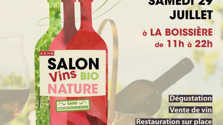 SALON DES VINS NATURE BIO – Samedi 29 juillet 2017 – LA BOISSIERE (34150)