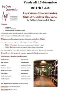 salon Caves Gourmandes 15 dec 2017