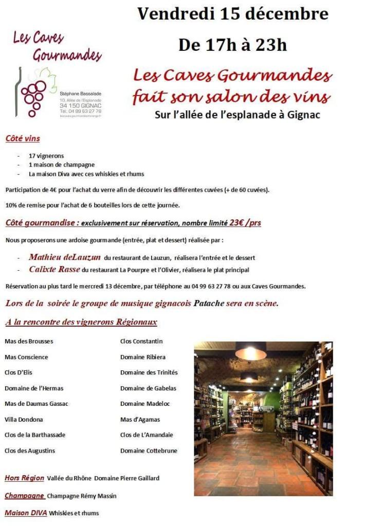 Salon des vins le 15 décembre 2017 à GIGNAC 1
