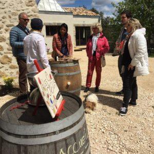Dégustation des vins au Mas de Boissonnade