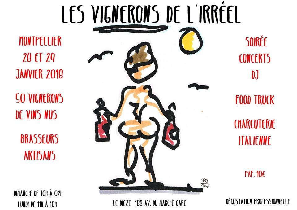 Le salon des vignerons de  l'irréel - 28-29 janvier 2018 - MONTPELLIER 1