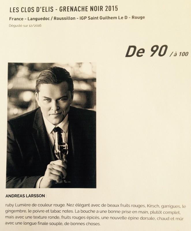 LE GRENACHE NOIR 2015 noté 90/100 par Andréas LARSSON 1