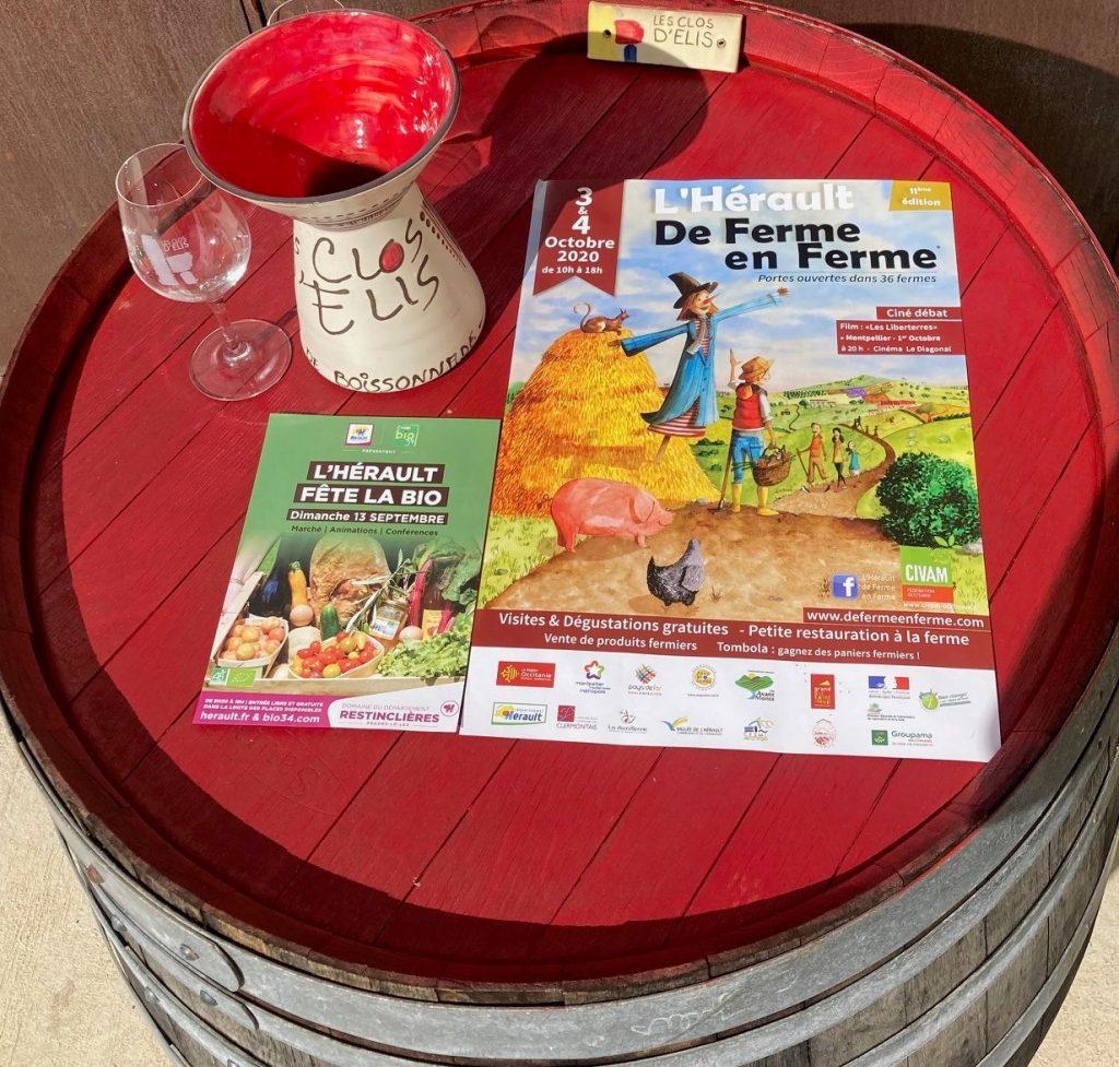 Les dégustations de la rentrée : Dimanche 13 septembre 2020 - Domaine de RESTINCLIERES - Prades Le Lez (34) - Samedi 3 et dimanche 4 octobre 2020 : PORTES OUVERTES au MAS DE BOISSONNADE - visite du chai, dégustation directement sur cuve les vins en cours d'élaboration... 2