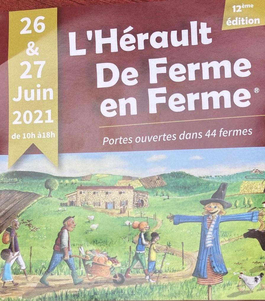 """L'Hérault de Ferme en Ferme le 26 § 27 juin 2021...Le MAS DE BOISSONNADE ouvre ses portes : visite des chais, dégustation commentée des vins, accord mets/vins avec les """"Bouchées de Boissonnade"""". 2"""